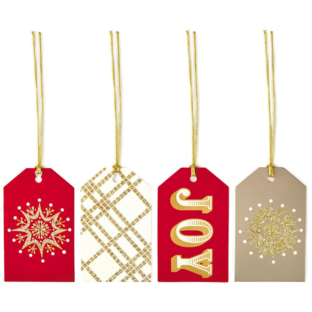 elegant christmas gift tags with cord ties pack of 12 seals and