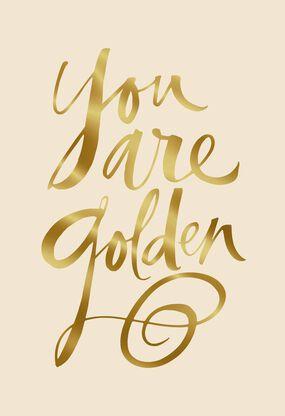 Jill Scott You Are Golden Musical Birthday Card