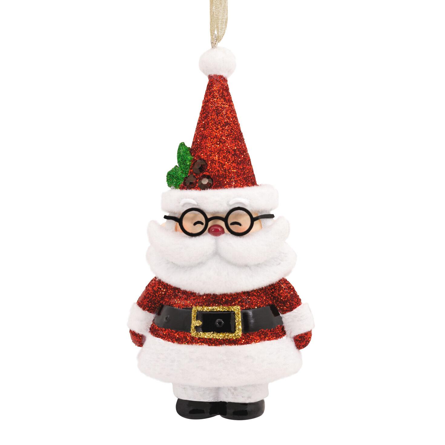 Sparkly Santa Claus Premium Hallmark Ornament