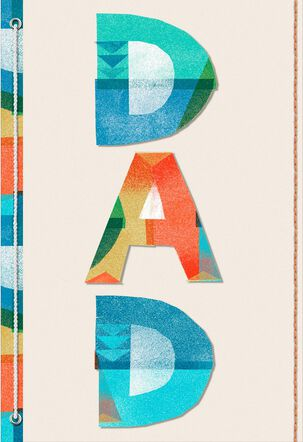 Modern Collage Letters Father's Day Card