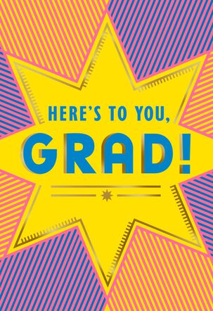 Yellow Starburst Graduation Card