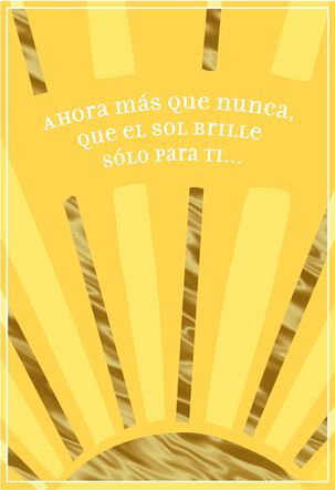 Rays of Sunshine Spanish-Language Good Luck Card
