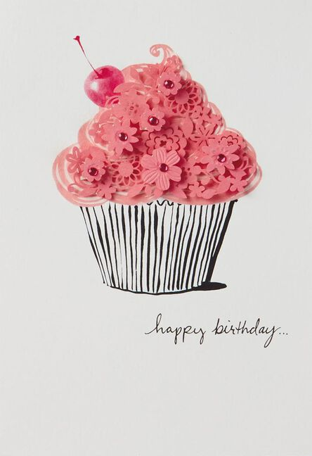 Pretty On Top Cupcake Birthday Card Greeting Cards Hallmark