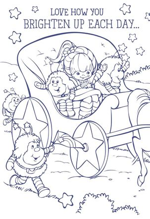Rainbow Brite Carriage Coloring Card