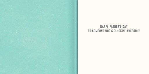 Awesome Chickens Funny Musical Fathers Day Card