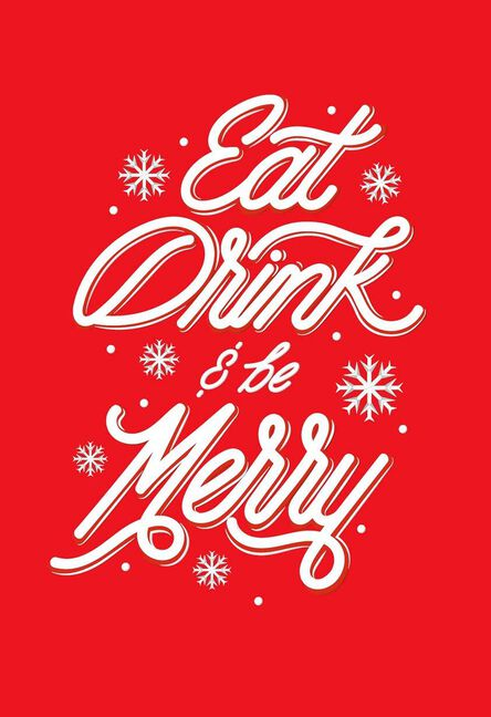 Eat drink and be merry christmas card greeting cards hallmark eat drink and be merry christmas card m4hsunfo