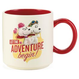 Snoopy and Fifi Ceramic Mug, 12 oz., , large