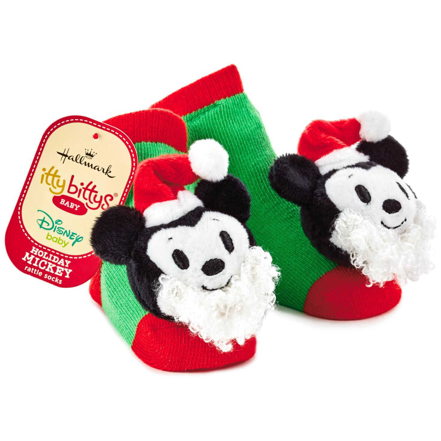 Mickey Mouse Christmas itty bittys® Baby Rattle Socks - Baby ...