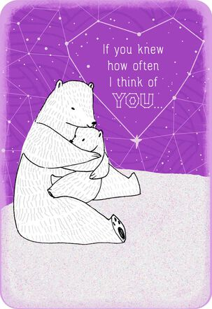 Hugging Bears Thinking of You Card