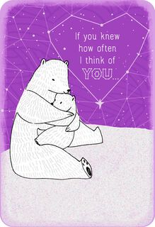 Hugging Bears Thinking of You Card,
