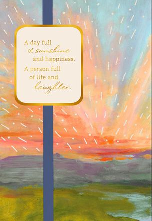 Sunshine and Happiness Scenery Birthday Card
