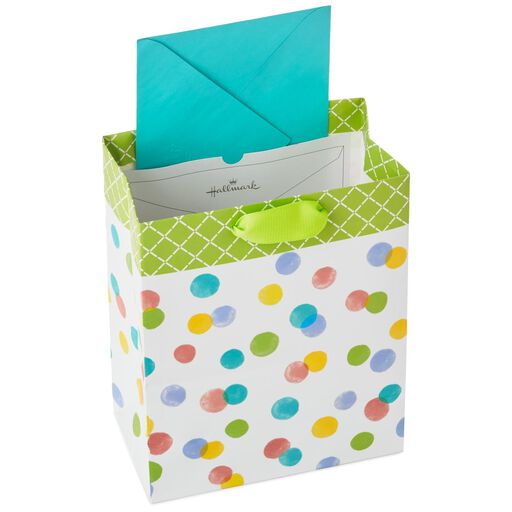Easter gift bags hallmark polka dots medium gift bag with bunny tag and tissue 96 negle Images