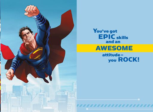 Superman™ You Rock! Card With Backpack Clip,