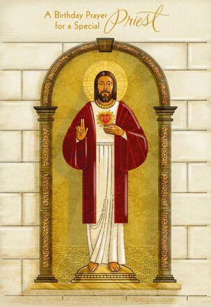 Jesus Happy Birthday Card for Priest