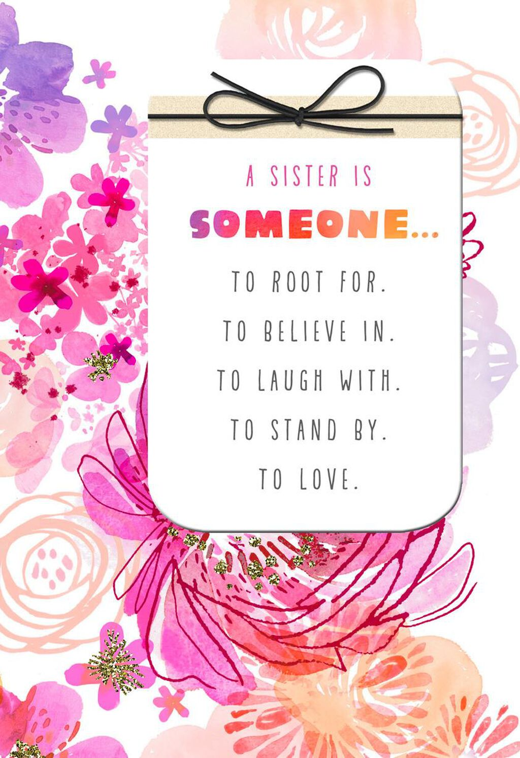 Youll Always Be Like A Sister To Me Birthday Card