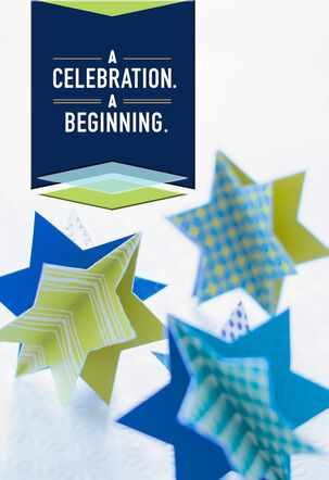Celebration, Beginning Bar Mitzvah Card
