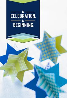 Celebration, Beginning Bar Mitzvah Card,