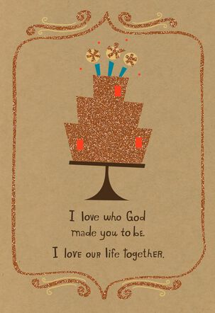 Love Our Life Together Religious Birthday Card