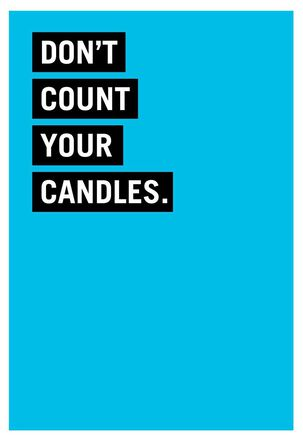 Counting Candles  Funny Birthday Card