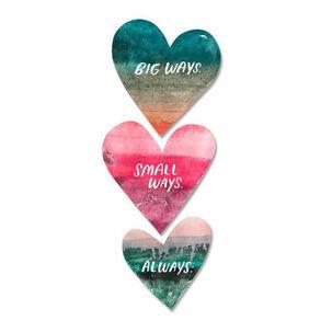 Watercolor Hearts Love Card