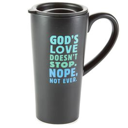 God's Love Ceramic Travel Mug, , large