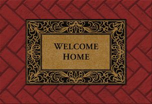 Welcome Mat New Home Congratulations Card