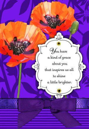 Poppies Friend Birthday Card