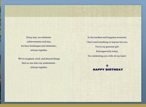 Always Together Birthday Card For Husband
