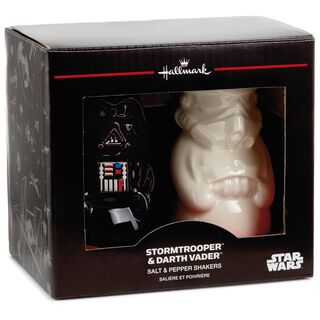 Star wars gifts christmas ornaments more hallmark - Darth vader and stormtrooper salt and pepper shakers ...