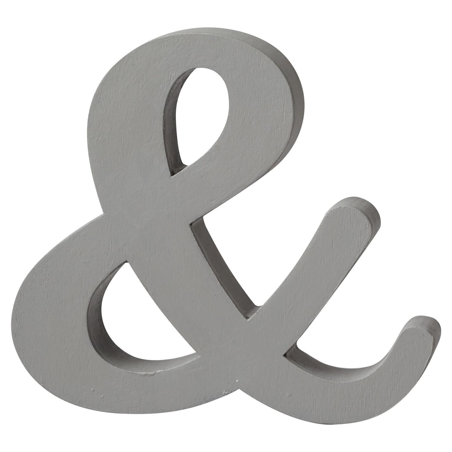Ampersand cutout sign decor decorative accessories for Ampersand decor