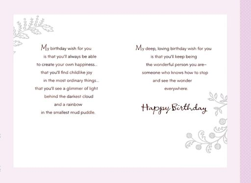 My Wishes For You Birthday Card Granddaughter