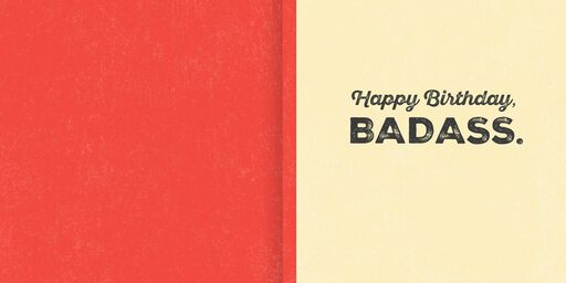 Bad to the Bone Musical Birthday Card,