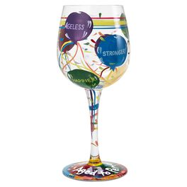 Lolita® Aged to Perfection Handpainted Wine Glass, 15 oz., , large