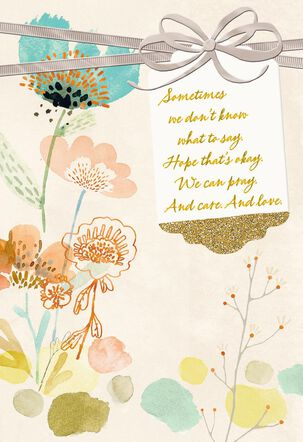 Pray, Care and Love Religious Encouragement Card