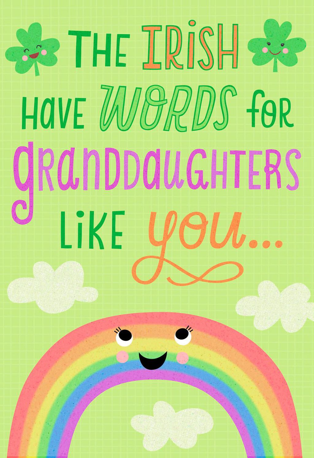 Irish Words For A Granddaughter St Patricks Day Card Greeting