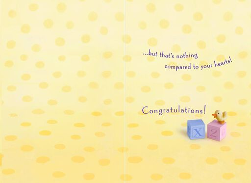 Toys Girl and Boy Twins Congratulations Card,