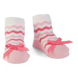 Mud Pie® Pink Ric-Rac Baby Socks, , large