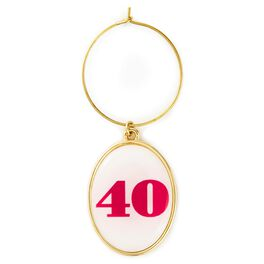 40th Birthday Wine Charm, , large
