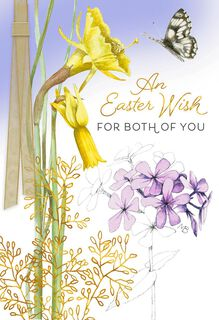 Marjolein Bastin Wishes for Both of You Easter Card,