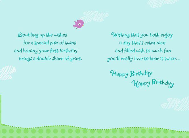 Lion Cubs 1st Birthday Card for Twins Greeting Cards Hallmark – Happy 1st Birthday Card