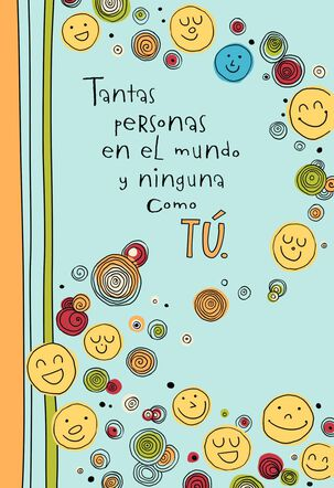 Smiley Faces Spanish-Language Miss You Card