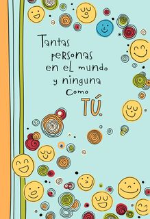 Smiley Faces Spanish-Language Miss You Card,