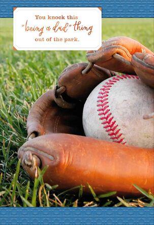 Baseball Glove Father's Day Card
