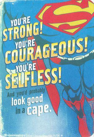 Don't Get Hurt Superman™ Birthday Card