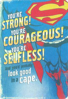 Don't Get Hurt Superman™ Birthday Card,
