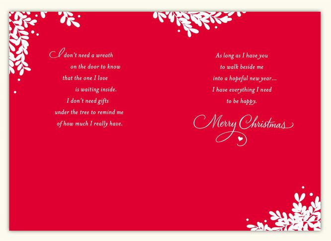 You by my side wife christmas card greeting cards hallmark you by my side wife christmas card m4hsunfo