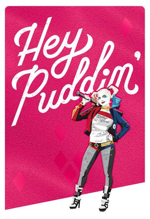 Harley Quinn™ Hey Puddin' Birthday Card