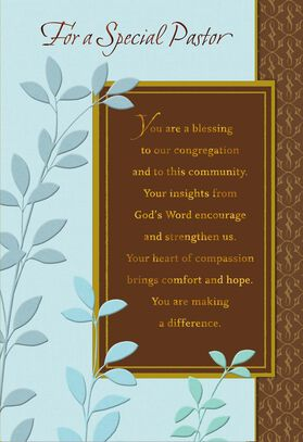 Youre a blessing pastor anniversary card greeting cards hallmark youre a blessing pastor anniversary stopboris Choice Image