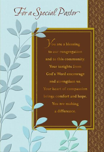Youre A Blessing Pastor Anniversary Card