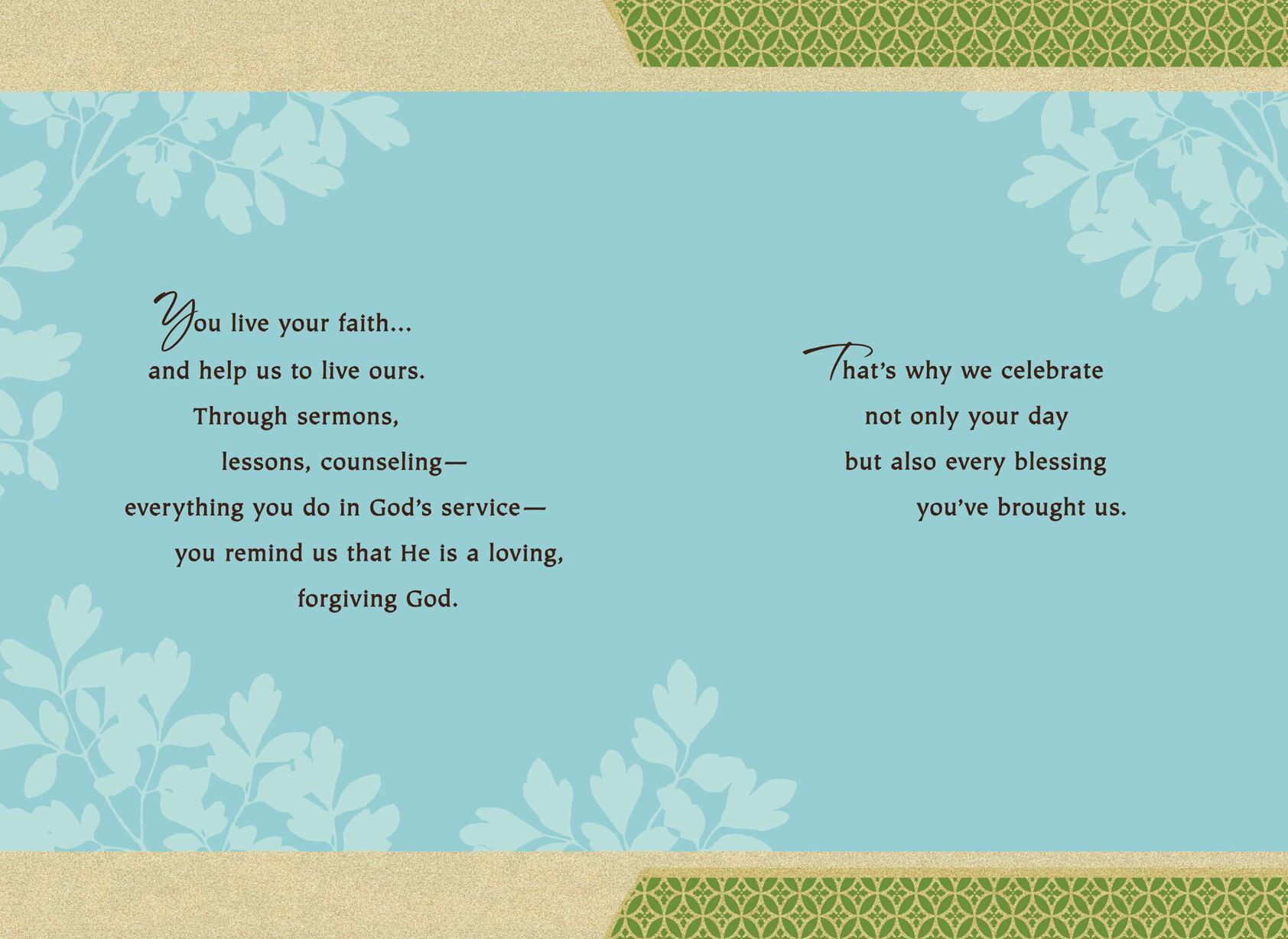 photo regarding Pastor Appreciation Cards Free Printable known as Clergy Pastor Appreciation Hallmark